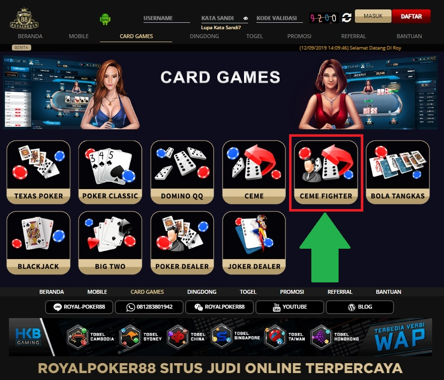 Tips Menang Bermain Ceme Fighter RoyalPoker88
